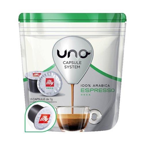 96 Cialde Uno Capsule System Illy Espresso Decaffeinato Dek Originali