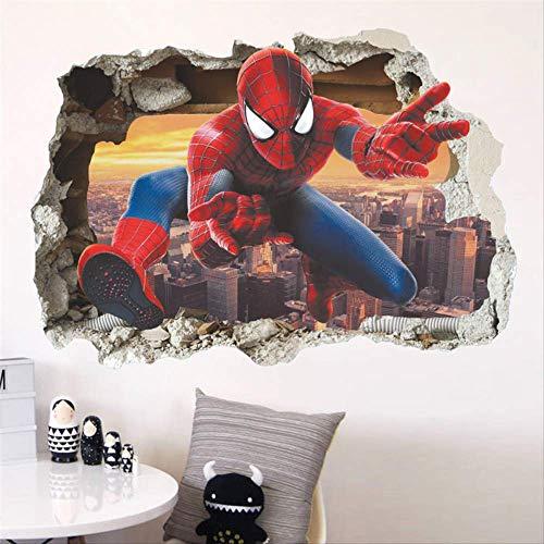 Spiderman Pegatinas De Pared Rotas Para Habitaciones De Niños ...