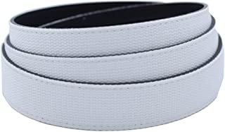 "Anson Belt & Buckle - Men's 1.25"" White Canvas Microfiber Backed Ratchet Belt Strap (Strap Only)"