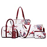 H&X Fashion(エイチエックス ファッション) H&X® レディースカジュアル通勤バッグ大容量手提げバッグ便利斜めショルダーバッグバッグバッグと財布の組み合わせ (梅の花) sw-メートル白色 not