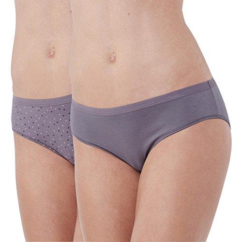 Schiesser Damen Selected Premium (2er Pack) Hipster, Mehrfarbig (sortiert 1 901), 36 (Herstellergröße: 036)
