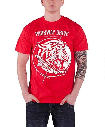 Parkway Drive Tiger Bones Official Herren Nue Red T Shirt