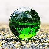 hongbanlemp Bola de Cristal 30mm-100mm Bola de Cristal Esfera Verde Oscuro Bola de Cristal Cura decoración de Piedra Feng Shui Bola de adivinación (Color : 100mm, Size : Wooden Base)