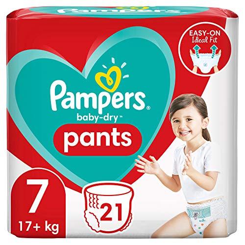 Pampers Baby-Dry Pants 7, 21Höschenwindeln, Einfaches An- und Ausziehen, Zuverlässige Pampers Trockenheit, 17+kg