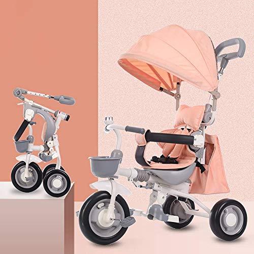 AUTOKS Baby Dreirad C.Kinder Trike 4 In 1 Kinderwagen Abnehmbare Überdachung Fahrt auf 3 Rädern Schutz