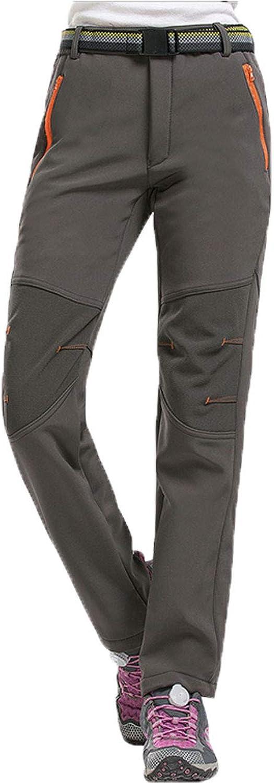 LANBAOSI Warm Hiking Pants Women, Winter Fleece Water Resistant Softshell Pants