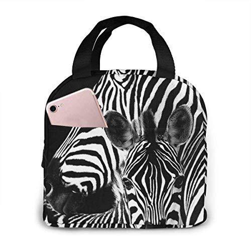 Bolsa de almuerzo Zebra para mujeres,niñas,niños,bolsa de picnic aislada,bolsa gourmet,bolsa cálida para el trabajo escolar,oficina,camping,viajes,pesca