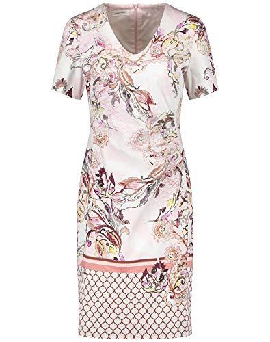 Gerry Weber Damen Kleid Mit Alloverdessin Figurumspielend Rosa/Tabak/Flamingo Druck 48