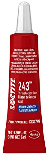 Best Loctite 1330799 Threadlocker 243 Surface Insensitive-Medium Strength Tube, Blue, 6-ml Review