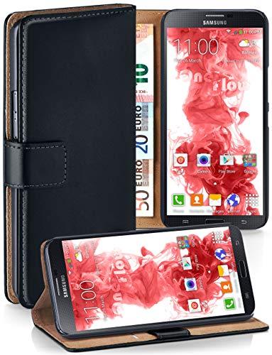 MoEx Cover a Libretto Compatibile con Samsung Galaxy Mega 6.3 | Fessura Carta + Soldi, Supporto, Nero