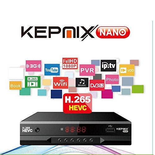 vs freesat v7 hevc Receptor de satélite Kepnix Nano h.265 iptv m3u xtream 1080p Soporte PowerVu Biss ccam Youtube WiFi USB