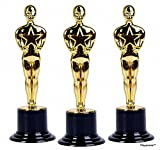 Playscene 6' Inch Oscar Star Trophy Awards - Party Pack of 24 ! !