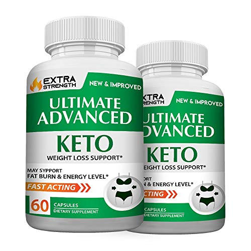 Ultimate Advanced Keto Pills - Ultimate Advanced Keto Weight Management Support - Ultimate Advanced Keto Extra Strength Diet Pills (120 Pills - 2 Month Supply)