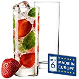 Highball Glasses with Heavy Base, Clear Drinking Glasses Set for Water, Juice, Cocktails, Wine, Beer, and Whiskey, 12 1/4 Ounce, Set of 6