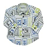 ICE ICEBERG Camicia Baby Boy Stampa all Over in Cotone CMICE0310B Bianco 12M