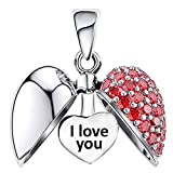 I Love You Cuore Charm in Argento Sterling S925 per Bracciale Pandora da Donna