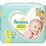 foto Pampers Premium Protection - Pañales (talla 1, 26 pañales, 2 kg, 5 kg, 489 g)