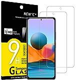 NEW'C 2 Stück, Schutzfolie Panzerglas für Xiaomi Redmi Note 10 Pro, Frei von Kratzern, 9H Festigkeit, HD Bildschirmschutzfolie, 0.33mm Ultra-klar, Ultrawiderstandsfähig