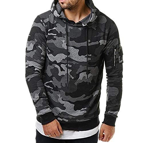 KXZD Hoodies Men Fashion Gradient Color Print Hooded Sweater Long Sleeve Hoody Sweatshirt Casual Tracksuit Pullover Top Mens Long Sleeve Hooded Sweatshirt Gradient Camouflage Pullover Tops