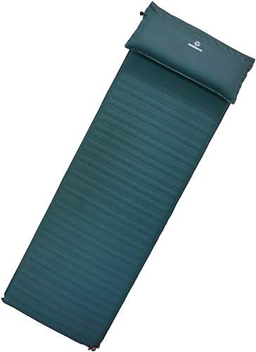 Outdoorer Tapis Isolant Gonflable XXL Trek Bed Flex 5 cm léger avec Oreiller Amovible 7,5 cm Auto-Gonflable