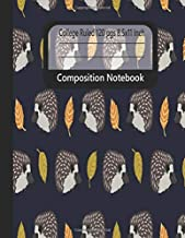Composition Notebook: Hedgefonds Cute Animal Leave Blue