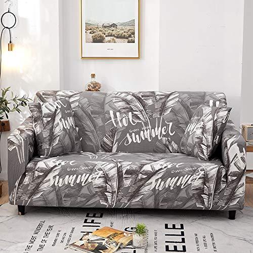 WXQY Funda Protectora para sofá de Esquina para Mascotas Funda elástica para sofá de Sala de Estar patrón geométrico Funda Protectora Antideslizante para sofá A5 4 plazas