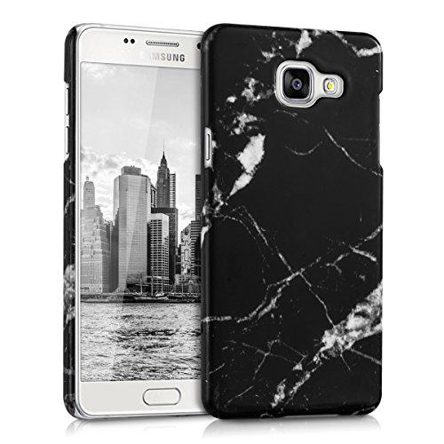 kwmobile Hülle kompatibel mit Samsung Galaxy A5 (2016) - Handy Case Handyhülle - Backcover Hardcover Cover Schutzhülle - Marmor Schwarz Weiß