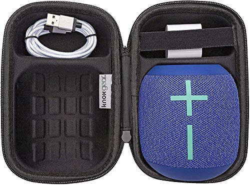 Ultimate Ears WONDERBOOM 2 (Bermuda Blue) with Knox Gear Protective Case, 6 Ft USB Cable & Wall Plug (4 Items)