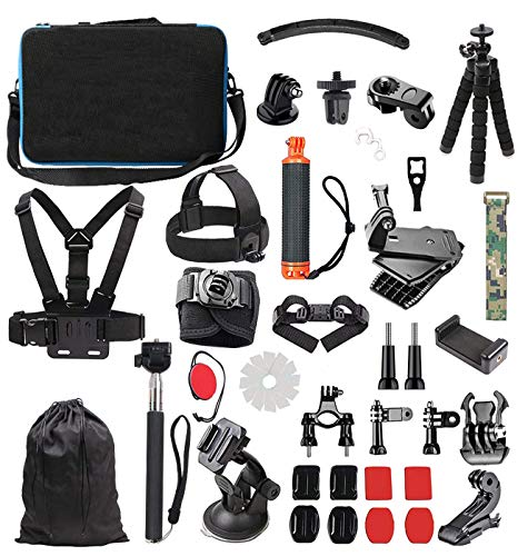 Lowpter Accessory Kit for GoPro Hero 7 6 5 4 3/ 3 2 1 Hero Session 5 Black AKASO EK7000 Apeman SJ4000 5000 6000 DBPOWER AKASO VicTsing Rollei Lightdow ,DJI OSMO and Sony Sports DV and More.