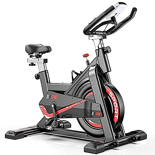 CANMALCHI Indoor Exercise Bike Spinning Bike For Home/Gym Use,Adjustable Workout Bike, LCD Display with Heart Rate Monitor, All-inclusive Super Mute Spinning Bike