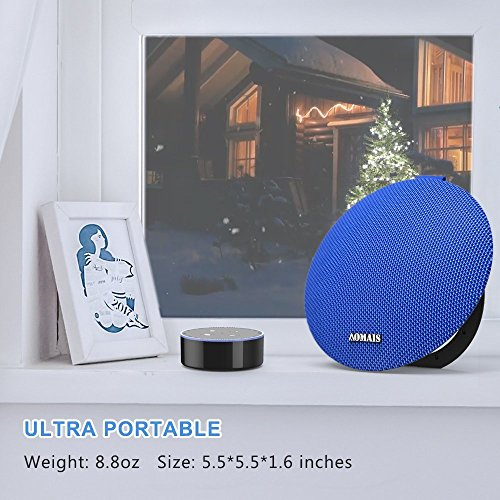 AOMAIS Ball Bluetooth Speakers,Wireless Portable Bluetooth 4.2 ,15W Superior Sound with DSP,Stereo Pairing for Surround Sound,Waterproof Rating IPX7,For Sports,Travel,Shower,Beach,Party(Blue)