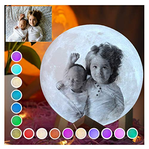 3D Printing Moon Lamp, Personalized Moon Lamp with Picture with Photo...