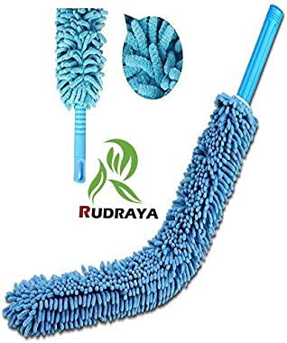 RUDRAYA Cleaning Brush Feather Microfiber Duster with Extendable Rod Dust Cleaner Fit Ceiling Fan Car Home Office Cleaning To
