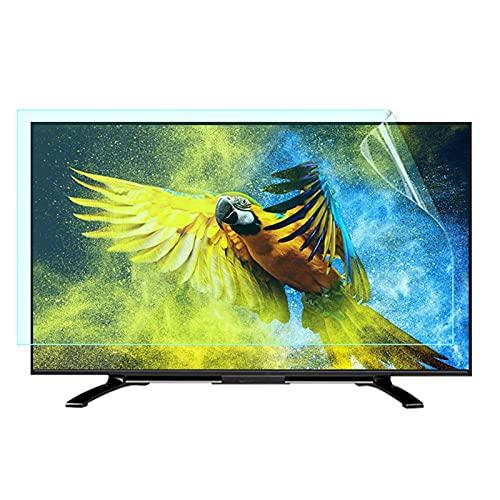 AJDGL Película Protectora de Pantalla antideslumbrante/luz Azul para TV Que Alivia la Fatiga Ocular y Duerme Mejor para LCD, LED, OLED y QLED 4K HDTV