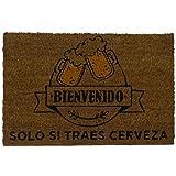 koko doormats Felpudo para Entrada de Casa Original, Modelo Traes Cerveza, Fibra de Coco y PVC, 40x60cm