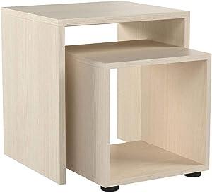 FMD 621-001_ei Duo Tables Gigognes Lot de 2 Chêne