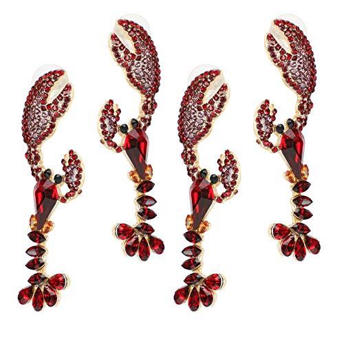 Boucles d'oreilles pendantes pendentif léger boucles d'oreilles en métal couleur vive homard forme cadeau pour les femmes décor
