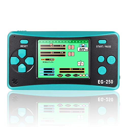 Handheld Game Console for Kids Portable Built-in 200 Video Games , 2.5'' LCD Retro Gaming System Player Support TV for Child Adult - (Turquoise)