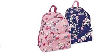 Pigna Zaino americano scuola e tempo libero - fantasia fiori colori rosa e viola