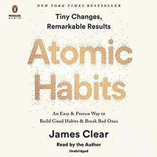 Atomic Habits audiobook cover art