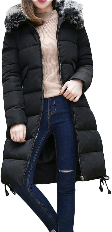 GAGA Women's Winter Fur Collar Puffer Down Overcoat Coats