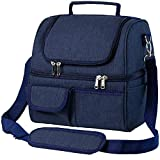 Insulated Lunch Bags for Women&Men - Dual Compartment, Leakproof 22 Can Extra Large