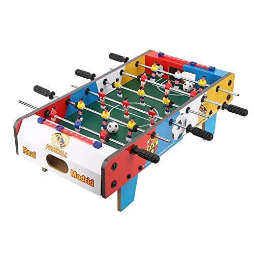 サッカーテーブル-木製の子供サッカーテーブル屋内ミニゲーム誕生日プレゼント親子エクササイズ男の子デスクトップサッカー教育玩具、19.7x9.8x6.3インチ
