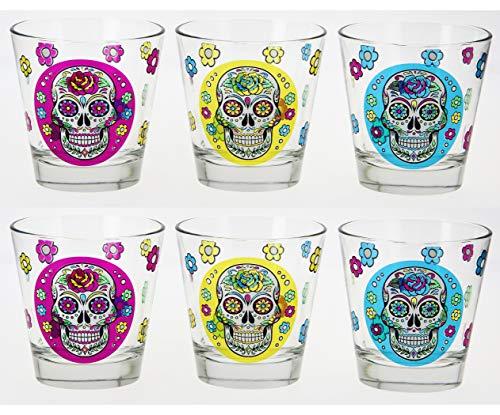 Cerve Tête de mort mexicaine Multicolore, Multicolore, Tumbler 250ml