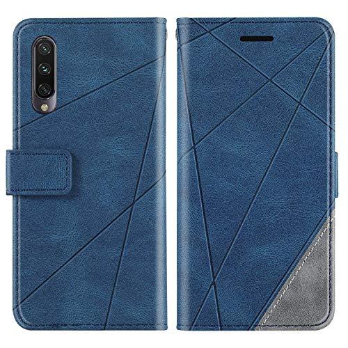 KKEIKO Hülle für Xiaomi MI CC9 / MI A3 Lite/MI 9 Lite, Brieftasche PU Leder Schutzhülle Klapphülle Tasche mit Kartensteckplatz, Stoßfest TPU Hülle für Xiaomi MI CC9 / A3 Lite / 9 Lite - Blau