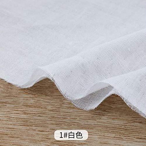 RILI Baumwolle Umweltfreundliche Baumwollgewebe Gewebe der doppelten Schicht Nähgut Fluoreszenz frei für Babywindel oder EIN Handtuch 25x150cm,1 weiß,25x150cm
