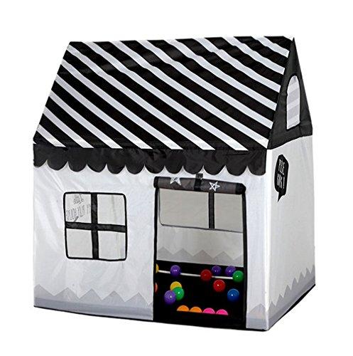 Benebomo Tenda per Bambini, Tende da Gioco per Bambini, Tenda per casa Nera, Princess Play House, miglior Regalo per Bambini