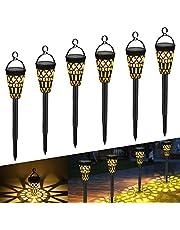 Tencoz Lámparas Solares para Jardín, Luces Solaes Exterior LED Impermeables Decoración Iluminación de Jardín para Caminos Patio Césped, Encendido/Apagado Automático