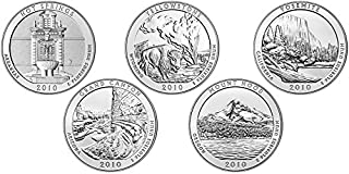 2010 P National Parks Set (5 Coins) Uncirculated