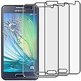 ebestStar - Compatible Pack x3 Verre trempé Samsung A3 Galaxy (2015) SM-A500F Film Protection Ecran Vitre Protecteur Anti Casse, Anti-Rayure, Pose sans Bulles [Appareil: 130.1 x 65.5 x 6.9mm, 4.5'']